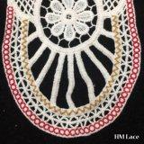 край вышивки шнурка утески Neckline вязания крючком хлопка 20*32cm симпатичный покрашенный мягкий толщиной с цветками и сетями для повелительницы Кофточки Вспомогательного оборудования Уравновешивания Шнурка Hm208