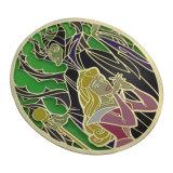安い価格の卵形の金属の錫の日本製アニメのロゴ印刷ボタンのバッジ