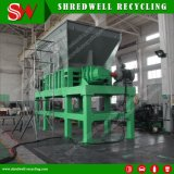 Doppio frantoio dell'asta cilindrica per il riciclaggio della filiale albero/di legno