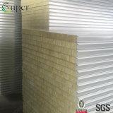 Pannello a sandwich delle lane di roccia dell'isolamento della costruzione per il tetto della parete