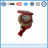 Счетчик воды Multi двигателя красного цвета латунный горячий