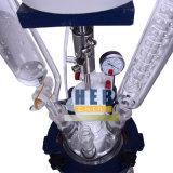 Heb-1L Mantelglasreaktor/doppelte Schicht-Glasreaktor mit Heizungs-Bad und Kühler
