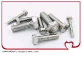 Stainless&#160 ; Tête Hex en acier &#160 ; Boulon DIN933&#160 ; Plein amorçage M24X50 de norme ANSI à M24X280