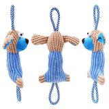 Il giocattolo stridulo della peluche per la corda del cucciolo del cane gioca indistruttibile per il molare