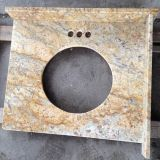 China Golden Granite Countertop for Kitchen and Bathroom