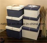 Rétro boîte-cadeau personnalisée carrée de papier de Bowknot de modèle