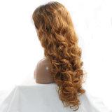 Парик волос белокурого свободного волнистого фронта шнурка 2017 синтетический