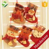 5pcs pendaison chaussettes de Noël Le Père Noël Bonhomme de neige mini sacs de stockage cadeau de Noël