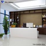 Mesa de escritório comercial da multi mobília de superfície contínua acrílica da estação de trabalho