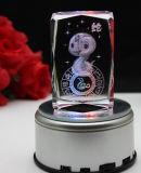 Выгравированная лазером оптовая продажа пресс-папья фотоего пустого квадратного кубика кристаллический