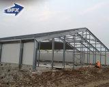 フィリピン新しいデザインサンドイッチパネルの鉄骨構造の層のニワトリ小屋へのエクスポート