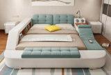 Модульный функциональной структуры двуспальная кровать с системой хранения данных