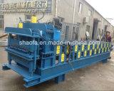 Capota Dupla Camada máquina de formação de rolos de tomada de Metal