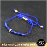 Großhandelsdistanzstück-Raupe Cuostom umsponnenes Armband, Macrame-Armbänder Mjb002