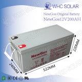 Rechargeable à cycle profond 12V 200Ah au plomb-acide de batterie solaire