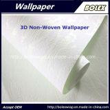 papel pintado natural no tejido 3D para la decoración casera los 0.53*10m