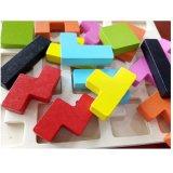 Colori geometrici di legno classici di figure che imparano puzzle educativo dei bambini