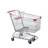 Магазинная тележкаа стального порошка вагонетки покупкы супермаркета Coated