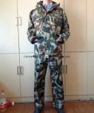 PVC/Polyester imprägniern Arbeitskleidungs-Tarnung-Regen-Mantel
