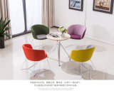 Base metálica fixa Cadeira de lazer para a pequena mesa de reunião ou mesa de café
