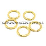 Fester Messing-aufgeteilter Ring für ledernes Keychain