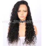 Full Lace Cabelo humano venda quente belas mulheres peruca na onda de Água