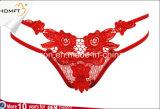 El Spandex floral bordado Bandlets del cordón 2 ve la cadena atractiva a través encantadora Tumblr de G de la ropa interior de las bragas eróticas de las muchachas
