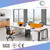 Zone de table en bois moderne et ouverte de 4 personnes Station de travail de bureau