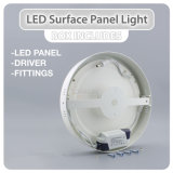 Longlife 6W, 12W, 18W, 24W panel LED de montaje en superficie
