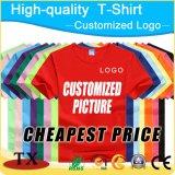 T-shirt personnalisé de promotion d'impression de coton de logo