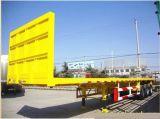 40ft 40 toneladas de transporte de contenedores semirremolque semirremolque plana