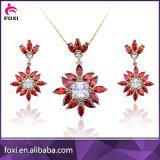 Conjuntos hermosos de la joyería del oro blanco del precio de la buena calidad del diseño mejores