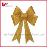 Voyant d'or de grandes fêtes de Noël Décoration Bow