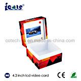 Sensor de luz de 4,3 pulgadas caja de vídeo en blanco con Ce & RoHS