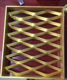 Cor de ouro a folha de malha de alumínio expandido para Decoração de parede do prédio