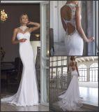 Безрукавный Bridal платья венчания Rr3003 сада пляжа Mermaid Spandex мантий