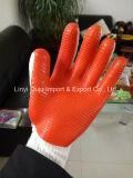 перчатка работы безопасности 10g T/C с прокатанной резиной латекса
