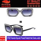 5702 óculos de sol quadrados do Rhinestone do frame da forma