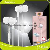 3.5m m vendedores calientes ataron con alambre en auricular del oído con el Mic