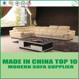 ソファーの家具の居間の部門別の革角のソファー