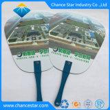 Kundenspezifischer Plastik-pp. Handventilator der Loch-Griff-runden Form-