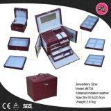 Imballaggio di cuoio su ordinazione del contenitore di monili del contenitore di pacchetto di modo grande (8734)