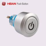 22mm Kaffeemaschine-Drucktastenschalter mit Ablichtung kundenspezifischem Symbol