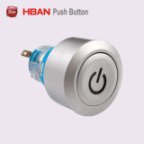 Ilumina momentáneamente de plástico de 22mm Interruptor Pulsador de aparato doméstico.