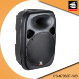 8 pS-0708bt-Wb van de Spreker van Bluetooth van het Karretje van de Karaoke van de duim Draadloze Actieve