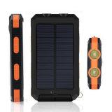 [Kingmaster] (공장) 태양 에너지 은행 iPhone Samsung를 위한 나침의를 가진 태양 충전기 2 포트 힘 은행 8000mAh 20000mAh 2 LED 가벼운 휴대용 충전기 Powerbank