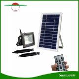 Esterno impermeabilizzare l'indicatore luminoso solare di obbligazione dell'inondazione dell'indicatore luminoso del giardino dei 12 LED con telecomando