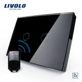 Control remoto Livolo Touch Panel de vidrio el interruptor de pared de luz (VL-C302R-81/82)