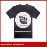 Coton fait sur commande des hommes 50 50 T-shirts promotionnels de polyester (R200)