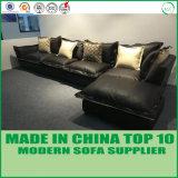 Meubles de bureau L sofa sectionnel en cuir à la maison moderne de forme